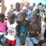 Haiti kids with crosses